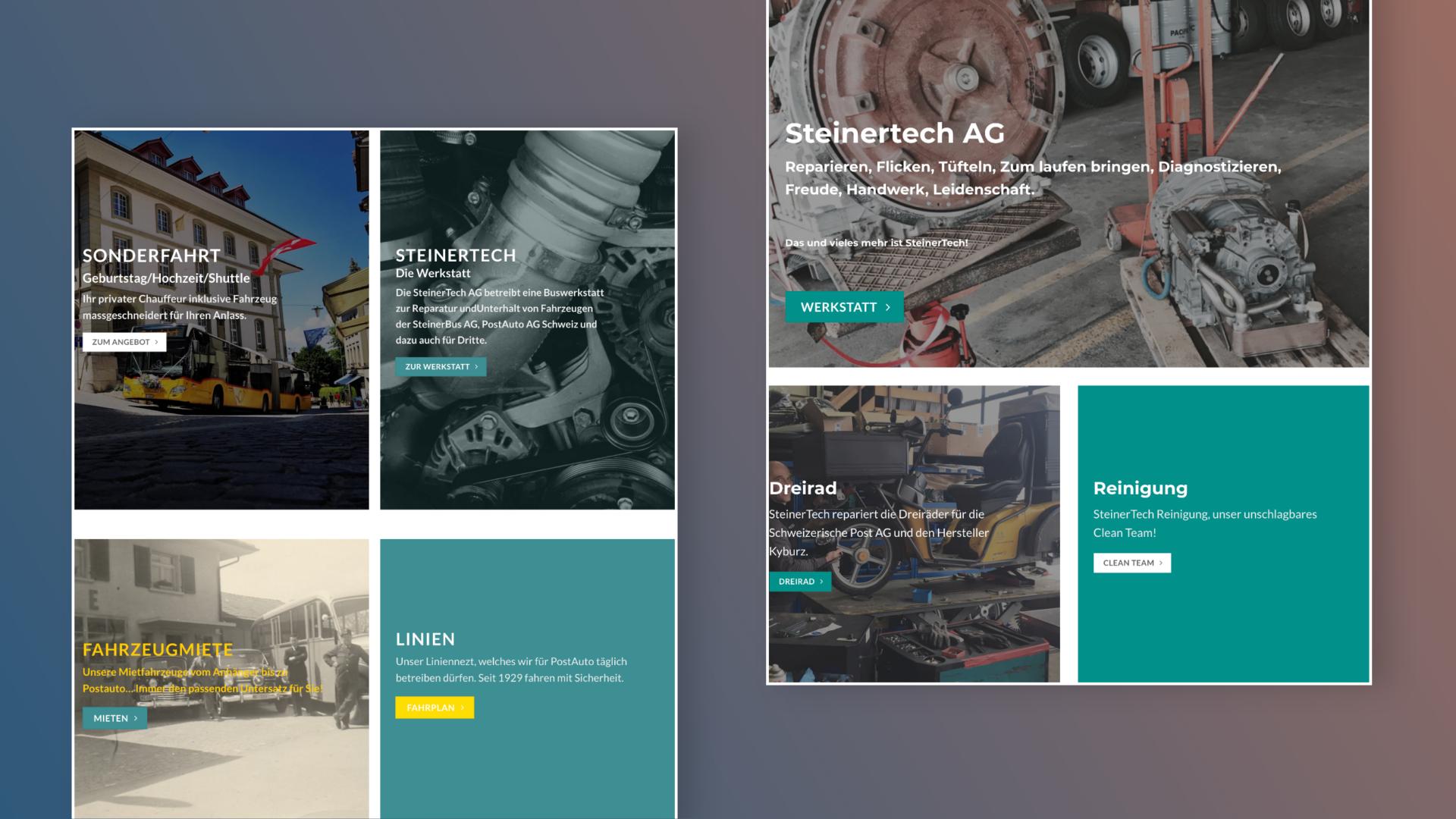 Steinerbus Webseite - ONET